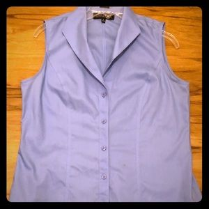 JONES NEW YORK Collection blue sleeveless shirt